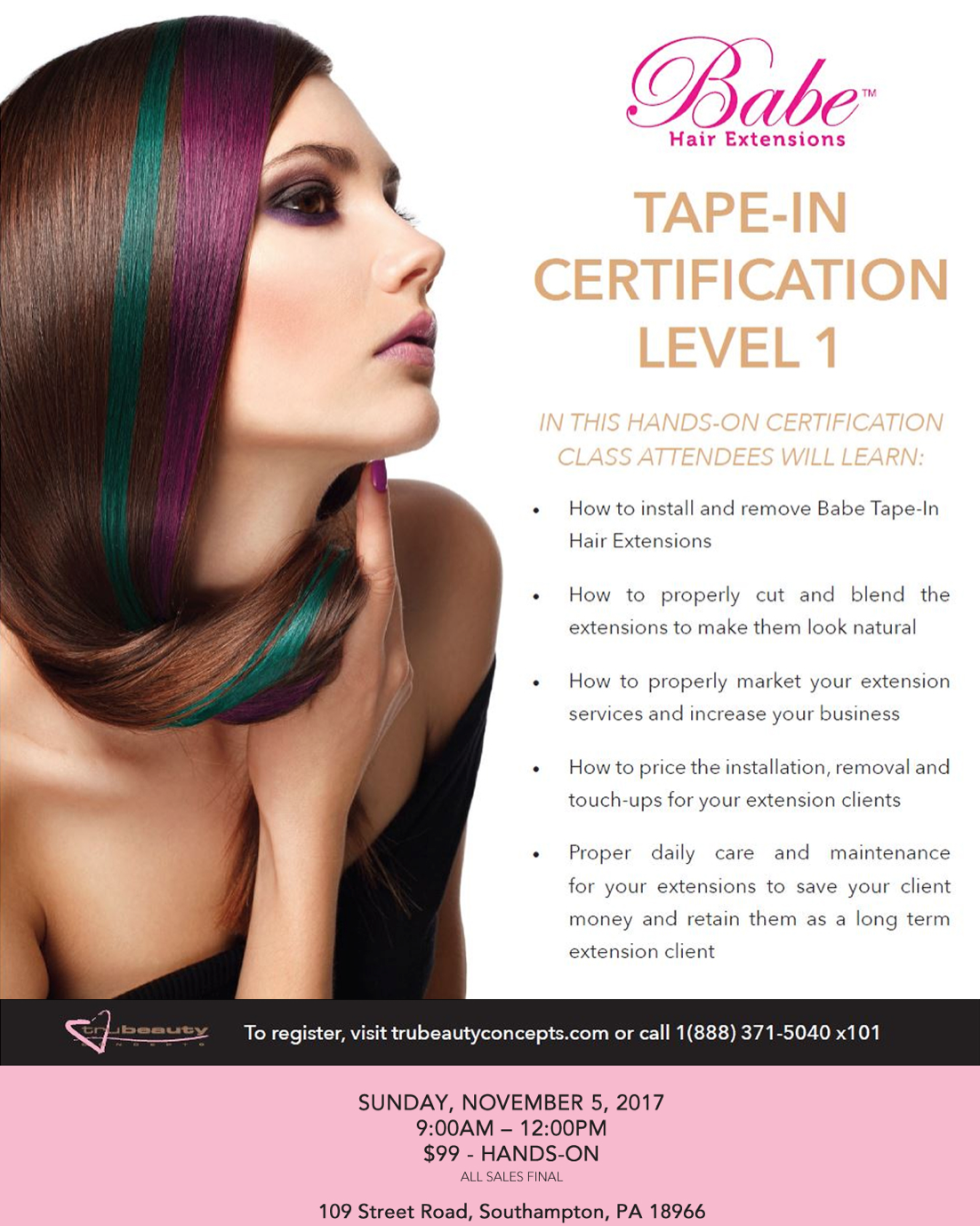 Babe Tape In Extension Certification Hair Dojo