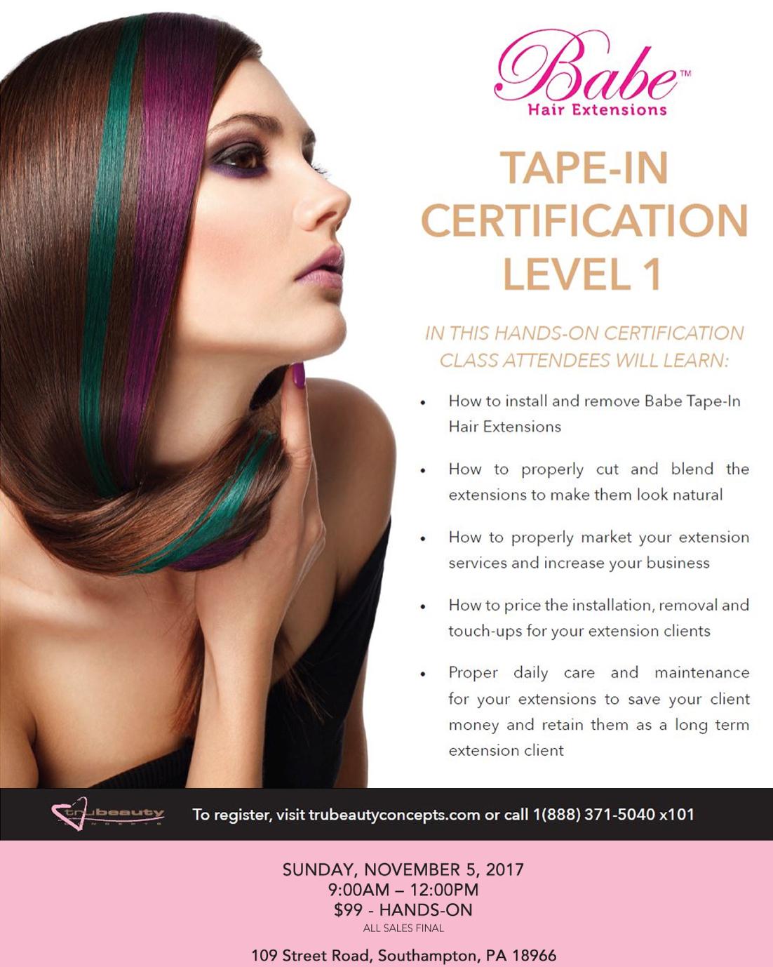 Babe Tape In Extension Certification Hair Dojo